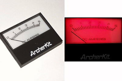 Vintage - Radio Shack Archerkit 5 Amp Analog Electronics Panel Meter 5a Dc