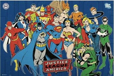 JUSTICE LEAGUE OF AMERICA - JLA - POSTER (DC UNIVERSE) Erik 24x36