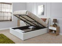 ⚡️⚡️⚡️Immediate Dispatch⚡️⚡️⚡️BRAND NEW DOUBLE OTTOMAN STORAGE BED FRAME ( BLACK,BROWN & WHITE )