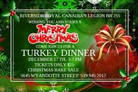 Riverside Royal Canadian Legion BR 255 Christmas Dinner
