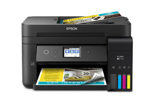 EPSON ET-4750 EcoTank AIO Printer, New, 2 years of ink included
