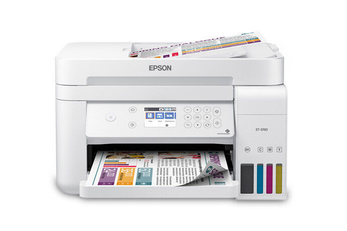 Epson EcoTank ET-3760 Wireless Color All-in-One Supertank Printer - Refurbished