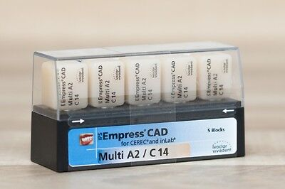 Cerec Ivoclar Vivadent Ips Empress Cad Multi Blocks Shades A2 C14 5pk