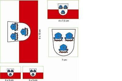 hut Aufkleber Set Flagge Fahne (Hut-aufkleber)