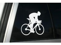 "5/"" BLITZ White on Clear Bike Bicycle Ride Road Race Car Tool Frame STICKER DECAL"