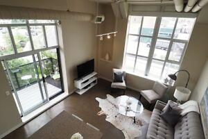 Exquisite 2-bed corner unit w/ private terrace at Kaufman Lofts!