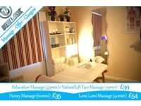 March Massage Offers Glasgow - Honey, Relaxation+Face, Lomi -also available: Swedish, Deep Tissue...