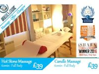 April Massage Offers Glasgow - Hot Stone, Candle - also available: Swedish, Deep Tissue, Sports...