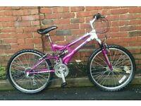 Small dual suspension bike