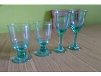 X4 New Unused Glass Drinking Glass Desert Glass's