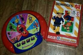 Fireman Sam learning activity wheel and large domino tile set