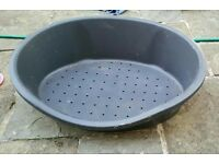 Anthracite large dog bed