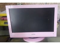 PINK TV WITH BUILT IN DVD