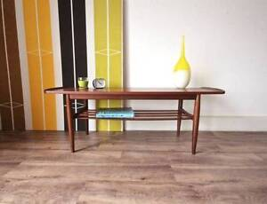 Authentic Parker Teak Coffee Table with Lower Shelf Vintage 1960s Hurlstone Park Canterbury Area Preview