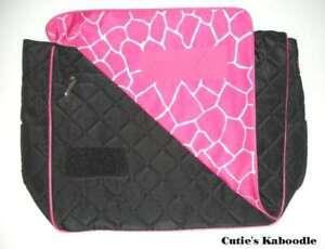 NEW JP LIZZY Raspberry Giraffe Diaper Messenger Bag