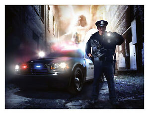 Police Officer Danny Hahlbohm Service Protect Print Poster