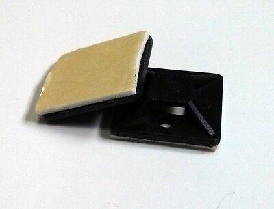 100x soporte base adhesiva para bridas brida abrazadera Cable ties 19x19 mm