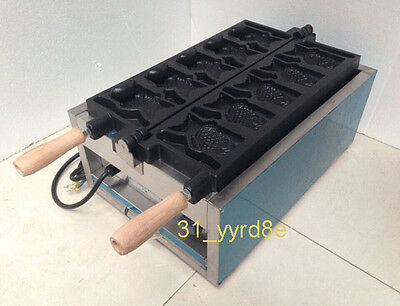 Fish Type Waffle Machineelectric Japanses Open Mouth Taiyaki Making Maker Fryer