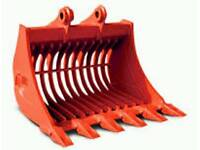 Wanted - 1.5t mini digger riddle bucket 30mm pins