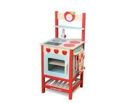 New le toy van applewood wooden play kitchen unisex design