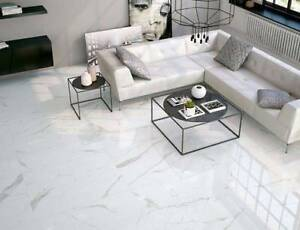 Calacatta Marble Polished Porcelain Tile 60x60 Wall Floor A Grade