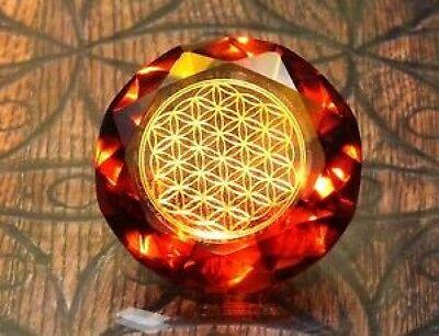 Tachyonen Diamant Blume des Lebens  Rot 45 Energie 1. Chakra