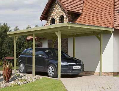Carport / Einzelcarport kdi mit PVC-Dach 300x500cm