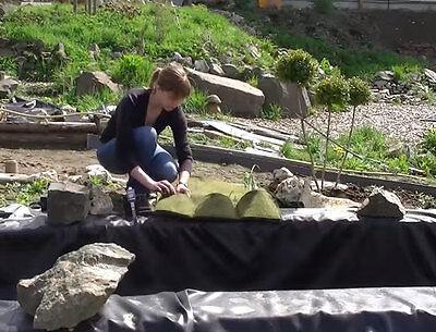 Erde Korb (Pflanzkorb Pflanztasche Wasserpflanzenkorb  mit 4 Taschen Pflanzbeutel Teichkorb)