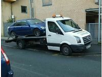 Volkswagon crafter Recovery truck for sale with the phone number advertised