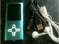 Brand new MP3 player with headphones - ebook, video, photos, voice recording.