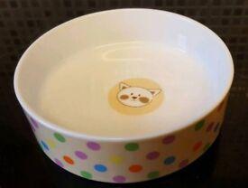 Ceramic Cat Dish 14cm