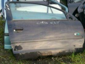 Vauxhall corsa c 3 door osf door in black