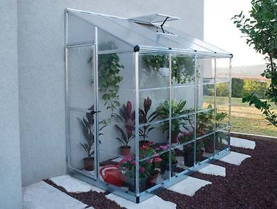 Palram Lean To Greenhouse 8ft x 4ft Aluminium Frame Unbreakable Panels RRP £400+