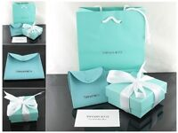 Tiffany & Co. gift carrier bags original jewellery sunglasses necklace earrings watch bracelet ring