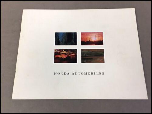 1990 Honda Line Sales Brochure Catalog - Accord Civic Crx Si EX