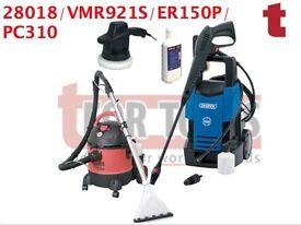 PC310 VALET MACHINE & CARPET CLEANER/DETERGENT & ER150P POLISHER & DRAPER 28018 PRESSURE WASHER