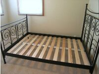 Black double bed frame 40