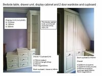 Great opportunity to buy fitted bedroom furniture with multiple options to fit your room