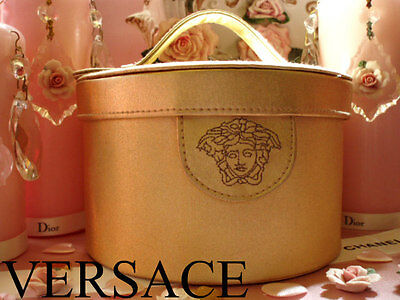 100%AUTHENTIC BEYOND RARE VERSACE MAKEUP~Beauty~JEWEL~STORAGE TRAVEL BAG CASE