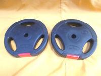 2x 5Kg Tri Grip VINYL Standard Weight Disc Plates - Body Power