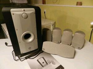 7 Haut-parleurs haute fidélité cinéma maison 5.1 ou 6.1 Athena