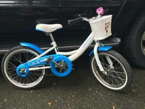 "Norco Girls 16 "" inch blue and white bike"