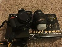 Nikon D3100 boxed with 18-55 lens
