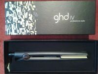 Ghd IV straighteners in box