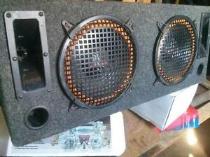 "2 10"" subs in enclosed box and two tweeters"