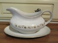 ROYAL DOULTON BONE CHINA GRAVY BOAT AND SAUCER