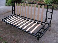 Metal frame sofa bed with top mattress
