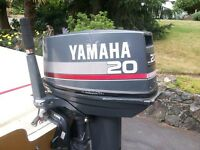 20 HP Yamaha Outboard Short Shaft