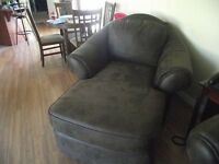 Faux Leather Chaise Lounge Chair from Sears