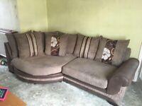 Cuddle Sofa and Half Moon Footstool